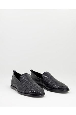 H by Hudson Ipanema woven loafers in leather