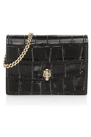 McQ Croc-Embossed Leather Cardholder-On-Chain