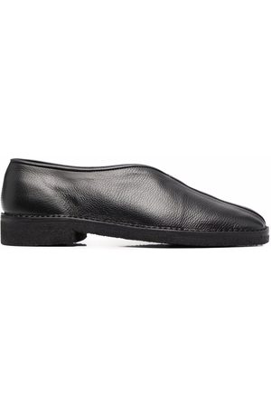 LEMAIRE Grained leather slippers