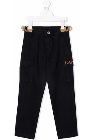Lanvin Logo-embroidered straight-leg trousers