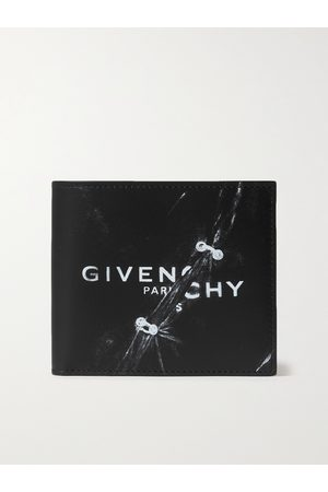 GIVENCHY Logo-Print Leather Bifold Wallet