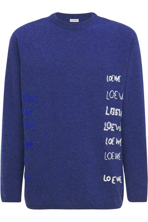 Loewe Embroidered Wool Knit Sweater