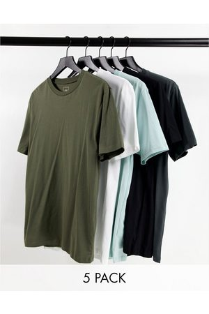 River Island Muscle 5 pack t-shirt in