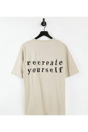 New Look Oversized t-shirt with recreate print in stone