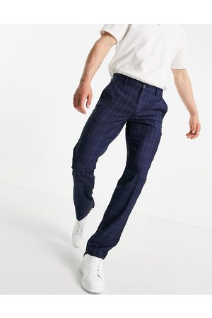 French Connection Slim fit mini check trousers