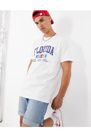 New Look Oversized t-shirt with Florida print in