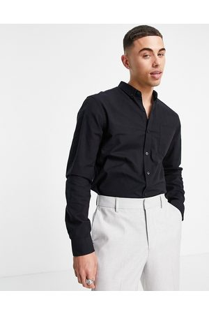 New Look Men Long sleeves - Long sleeve organic cotton oxford shirt in