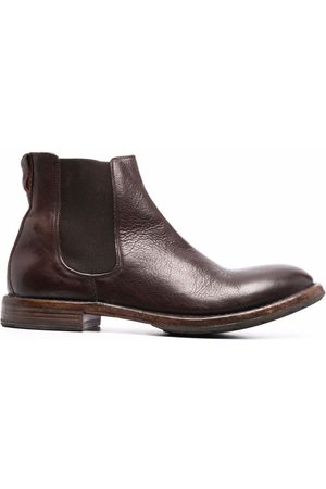 Moma Men Ankle Boots - Distressed leather Chelsea boots