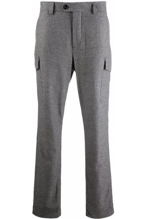 Brunello Cucinelli Houndstooth-pattern tailored trousers