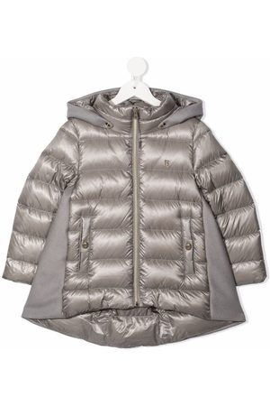 HERNO Girls Jackets - Contrast zip-up padded jacket