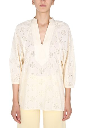 Tory Burch LACE TUNIC WITH BALOON SLEEVES