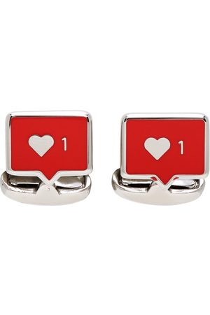 Paul Smith Silver & Red Likes Cufflinks