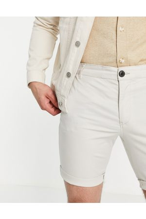 SELECTED Chino short in stone