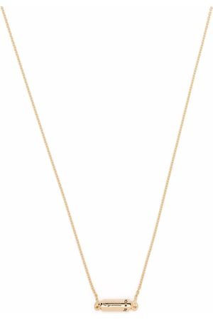 Le Gramme 18kt yellow polished capsule pendant necklace
