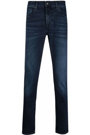 7 for all Mankind Men Straight - Mid-rise straight-leg jeans