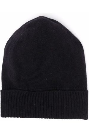 Barrie Cashmere rib-knit beanie hat