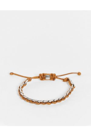 Icon Brand Cord and chain bracelet in