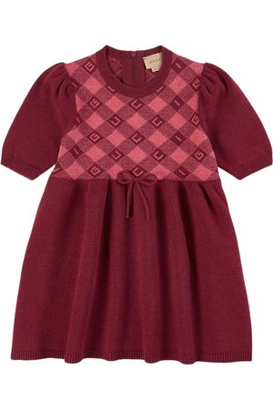 Gucci Kids - Check Fine Wool Short Sleeve Dress - Girl - 4 years - - Casual dresses