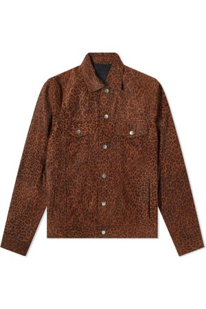The Other Suede Over Printed Trucker Jacket