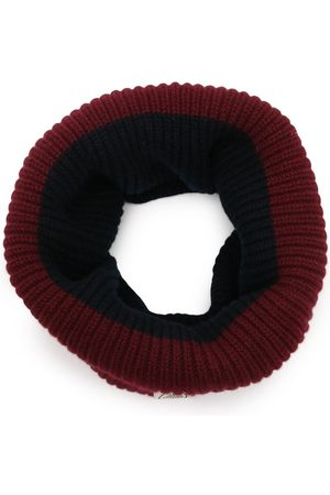 MULBERRY Colour-block ribbed knit snood