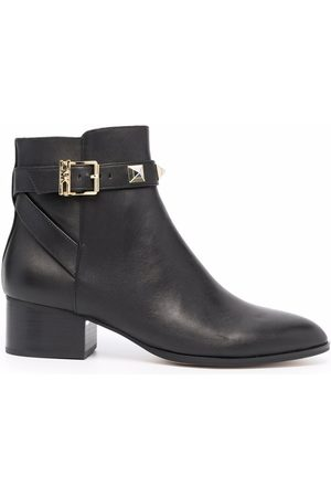 Michael Kors Women Ankle Boots - Britton stud-embellished leather ankle boots