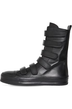 ANN DEMEULEMEESTER Men Sneakers - Roger Nappa Leather High Strap Sneakers