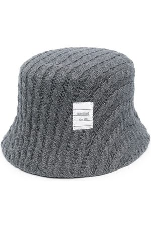 Thom Browne Cable knit bucket hat