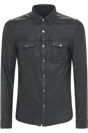 The Other Men Shirts - Leather Shirt W/front Pockets