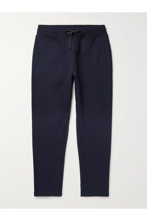 Loro Piana Men Pants - Tapered Double-Faced Cotton, Silk and Cashmere-Blend Jersey Sweatpants