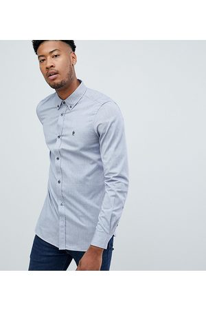 French Connection Tall oxford button down logo shirt
