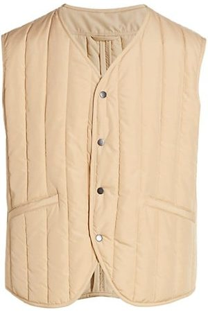 Saks Fifth Avenue Quilted Button Vest