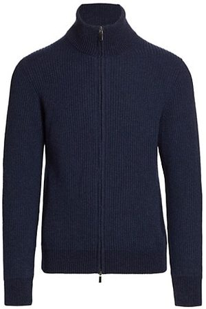 Saks Fifth Avenue Ribbed Zip-Up Sweater