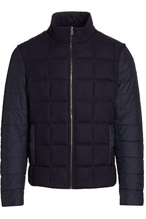 Saks Fifth Avenue COLLECTION Quilted Mixed Media Jacket
