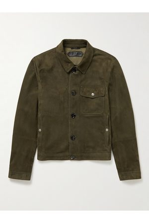 Tom Ford Men Leather Jackets - Suede Overshirt