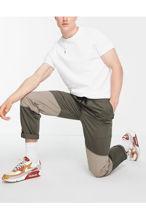 Topman Cut and sew relaxed trousers in khaki