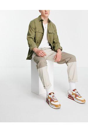 Topman Cut and sew relaxed trousers in ecru