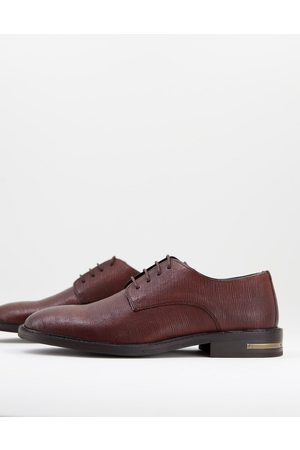WALK LONDON Oliver derby shoes in etched leather