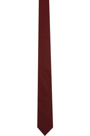Men Neckties - Givenchy Red 4G Jacquard Blade Neck Tie