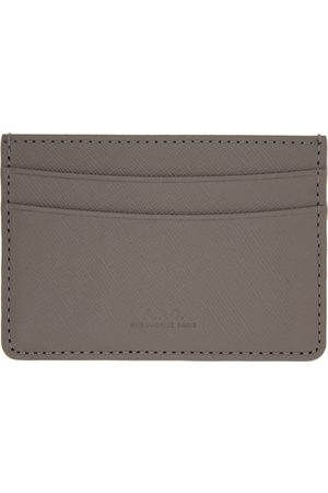 A.P.C. Grey Embossed André Card Holder