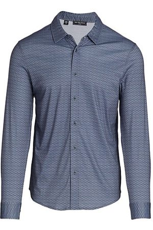 Saks Fifth Avenue Men Casual - Patterned Button-Down Shirt