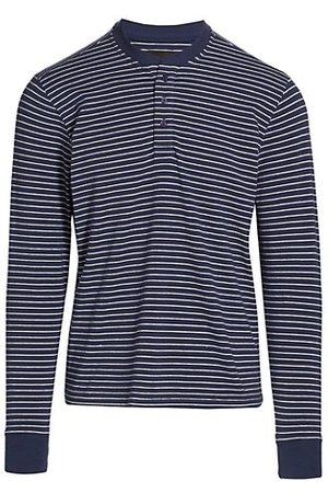Saks Fifth Avenue COLLECTION Striped Henley Pajama Top