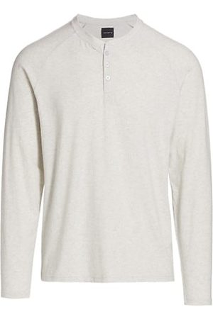 Saks Fifth Avenue COLLECTION Heathered Henley Pajama Top