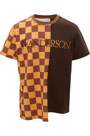 J.W.Anderson Men T-shirts - CHECKERBOARD PATCHWORK T-SHIRT