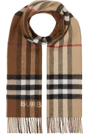 Burberry Two-tone checked cashmere scarf