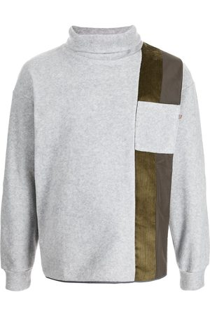 Anglozine Ride panelled roll-neck jumper
