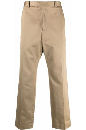 OAMC Straight-leg cropped cotton trousers