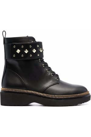 Michael Kors Women Boots - Haskell spike-strap leather boots