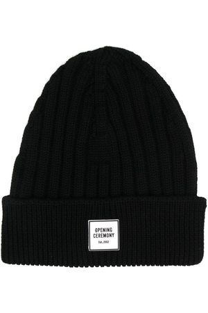 Opening Ceremony Beanies - Box logo patch beanie