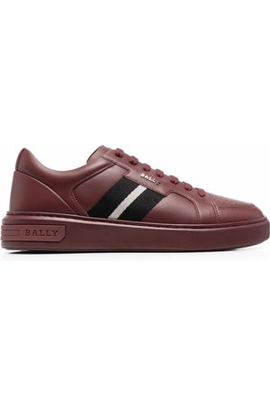 Bally Stripe-embellished leather sneakers
