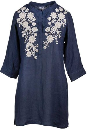 Jam London Hand Embroidered Tunic Navy